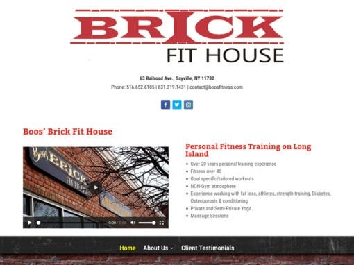 Boo's Brick Fit House