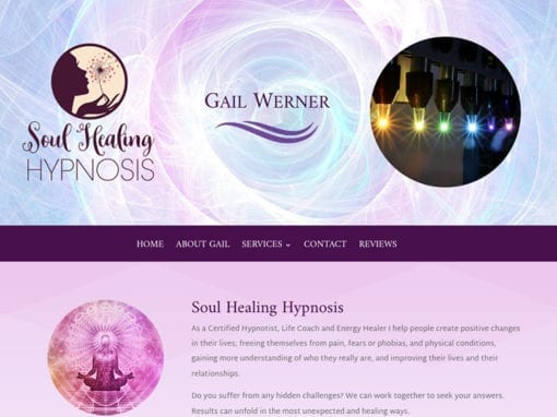 Soul Healing Hypnosis Website and Brochure Design
