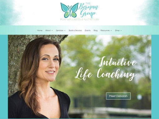 The Berman Group for Nutrition and Wellness Website Redesign