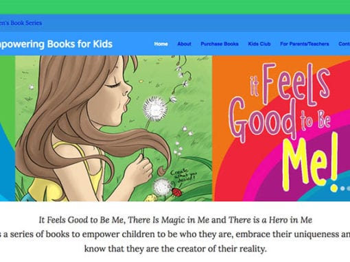 Children's Book Series Website Design