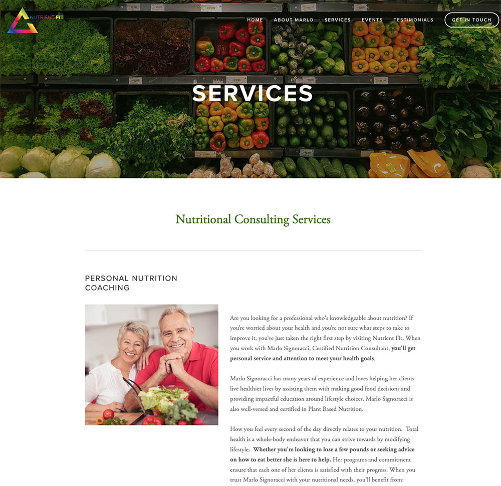 nutrition and wellness services