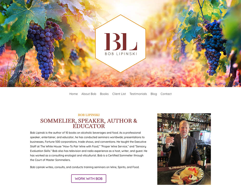 Bob Lipinski website design