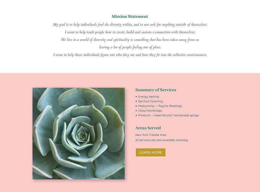 divinity ground website design
