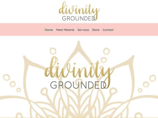 Divinity Grounded Website Design