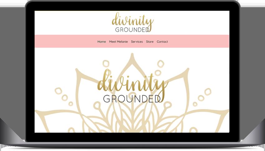 divinity grounded website design
